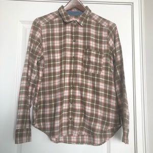 Hollister Plaid Flannel Button Down Shirt